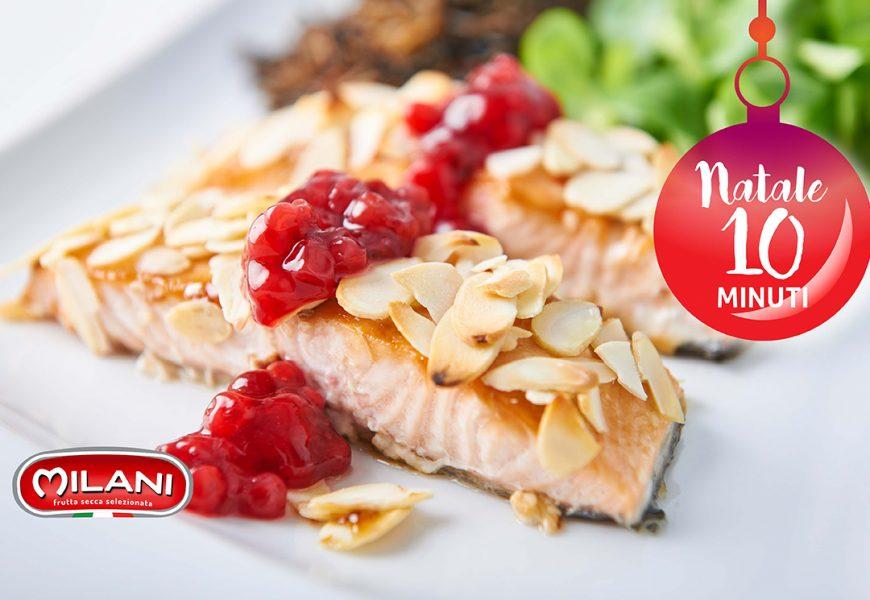 Natale in 10 minuti: salmone con panatura alle mandorle