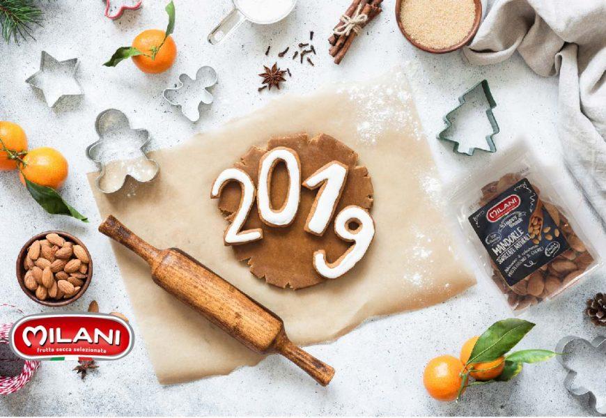 Biscotti alle mandorle e alle arance per un buon 2019