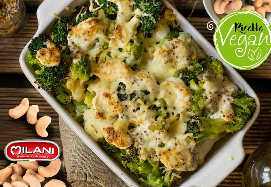 Idee vegan: broccoli gratinati al forno