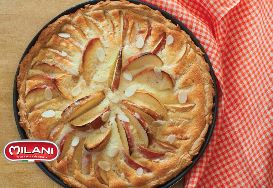 Torta di mele e mandorle, senza burro