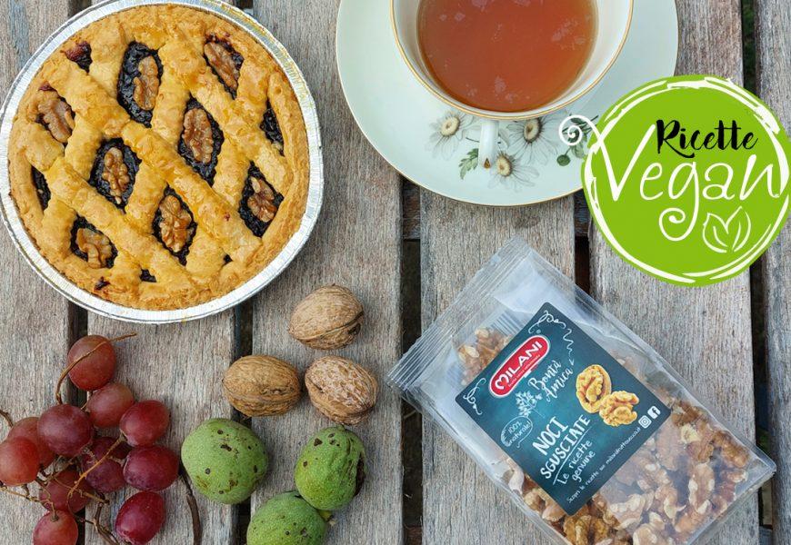 Idee vegan: crostata con noci e mostarda d'uva